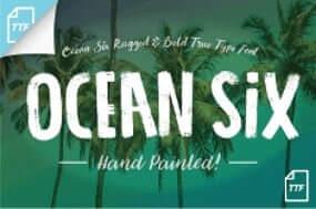 ocean six free true type font