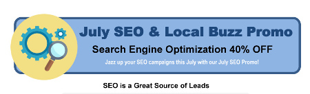 July SEO and Local Buzz Promo
