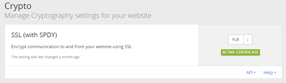 CloudFlare Full SSL with SPDY