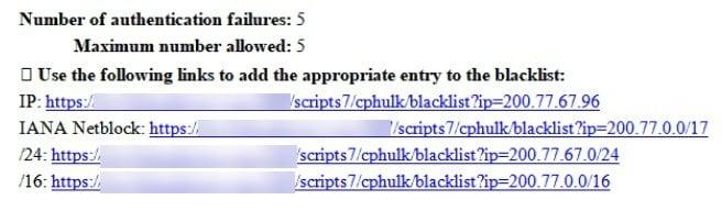 cphulk email notification