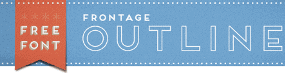 free frontage outline font