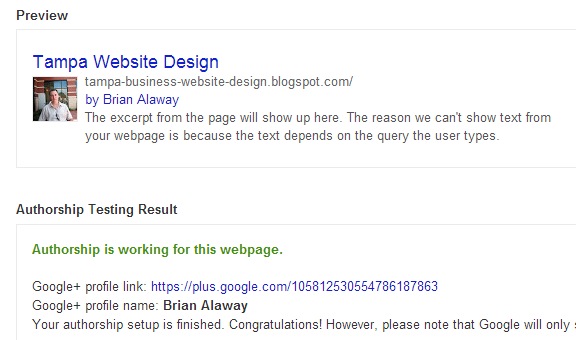 google authorship blogger