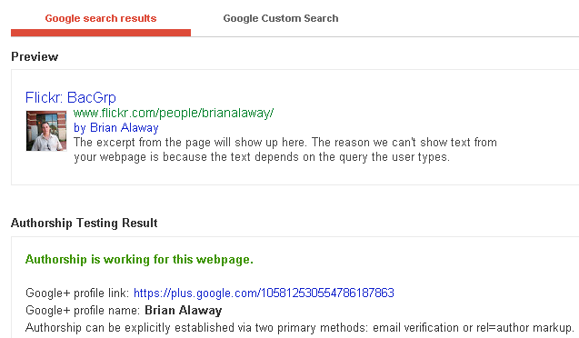 google authorship flickr