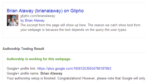 google authorship glipho