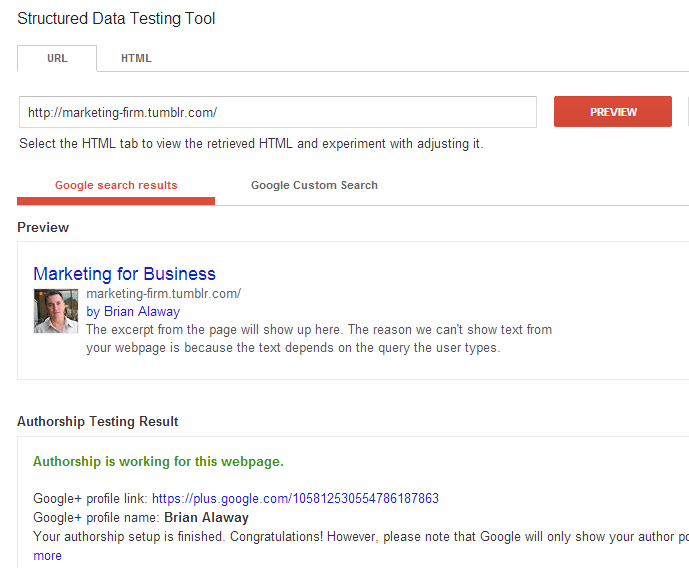google authorship on tumblr verification