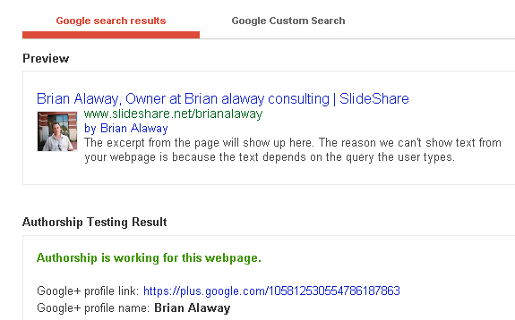google authorship slideshare