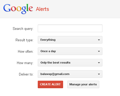 Online Reputation Monitoring - Google Alerts