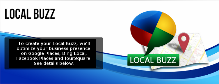 Google+ Local, Google Places, Bing Local, Facebook Places, Foursquare