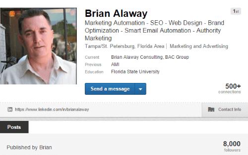 LinkedIn Profile - Brian Alaway