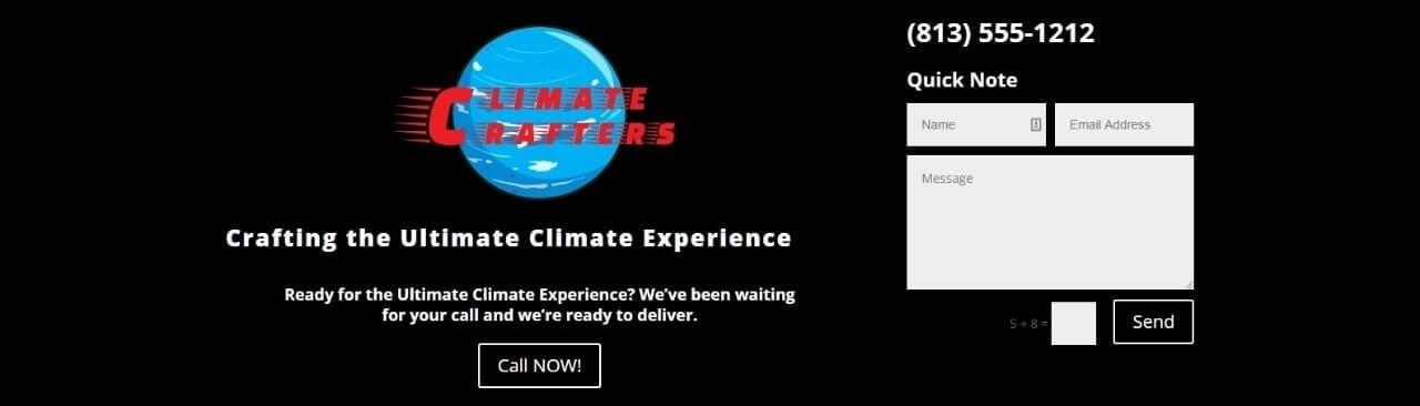 business website climatecrafters.com