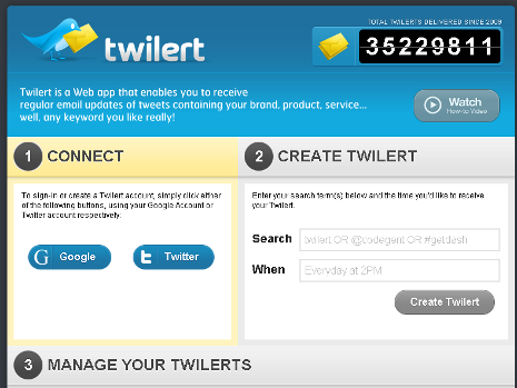 Online Reputation Monitoring - Twilert